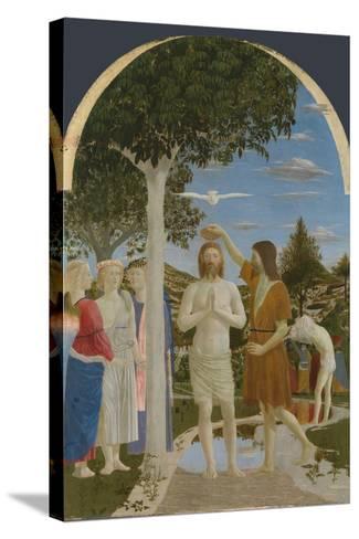 The Baptism of Christ, 1450S-Piero della Francesca-Stretched Canvas Print
