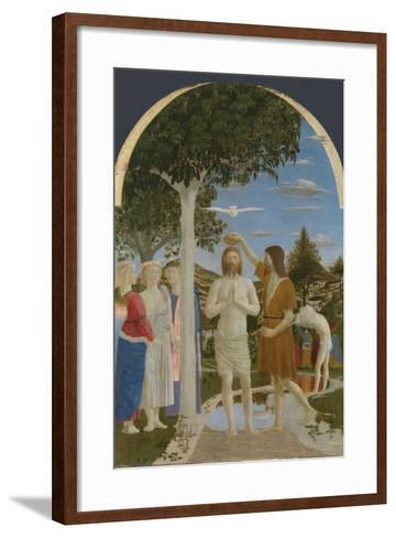 The Baptism of Christ, 1450S-Piero della Francesca-Framed Art Print
