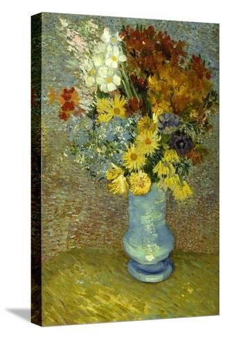 Flowers In A Blue Vase Giclee Print By Vincent Van Gogh Art