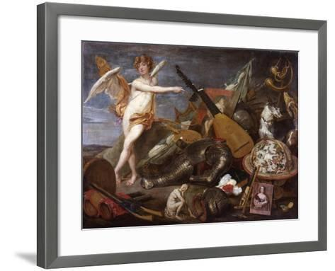 Triumph of Love and Beauty-Thomas Willeboirts-Framed Art Print