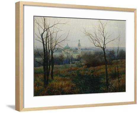 Autumn Is Over, 1887-Konstantin Konstantinovich Pervukhin-Framed Art Print