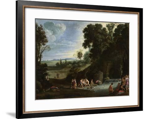 Diana and Callisto, 1620S-Paul Brill-Framed Art Print