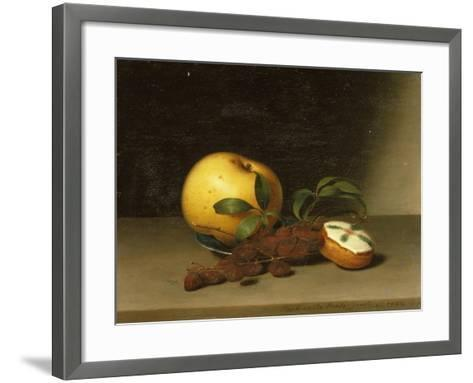 Still Life with Cake, 1822-Raphaelle Peale-Framed Art Print