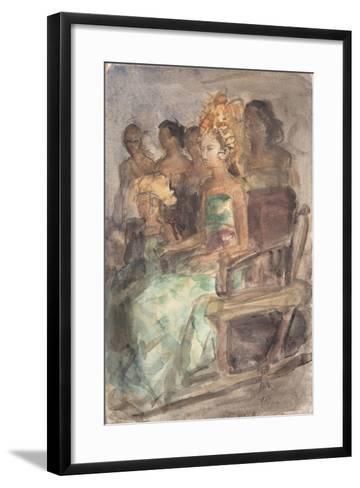 Indonesian Princess, 1890-Isaac Isra?ls-Framed Art Print