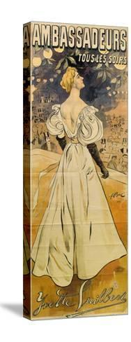 Yvette Guilbert. Ambassadeurs Tous Les Soirs, 1895-Ferdinand Bac-Stretched Canvas Print