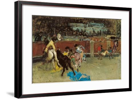 Bullfight. Wounded Picador-Mari? Fortuny-Framed Art Print