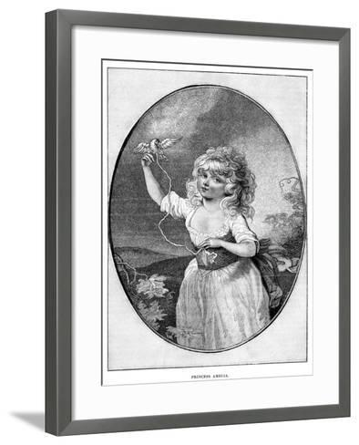 Princess Amelia, Youngest Daughter of George III and Queen Charlotte, 19th Century--Framed Art Print