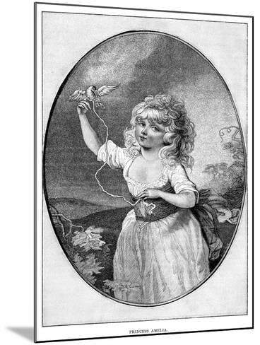 Princess Amelia, Youngest Daughter of George III and Queen Charlotte, 19th Century--Mounted Giclee Print