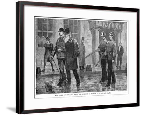 The State of Ireland: Going to Business - a Sketch at Westport, Mayo, 19th Century--Framed Art Print