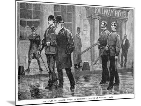 The State of Ireland: Going to Business - a Sketch at Westport, Mayo, 19th Century--Mounted Giclee Print