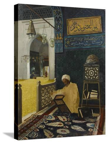 Quran Reciting-Osman Hamdi Bey-Stretched Canvas Print