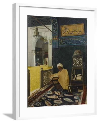 Quran Reciting-Osman Hamdi Bey-Framed Art Print