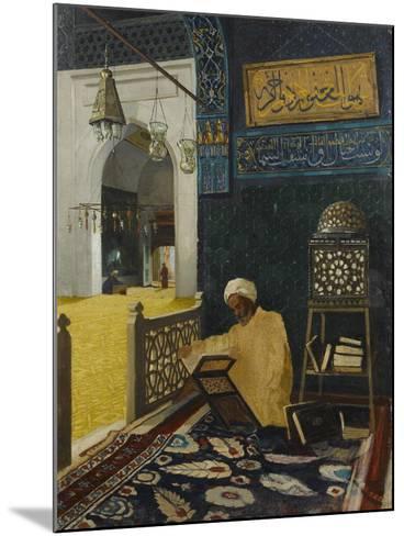 Quran Reciting-Osman Hamdi Bey-Mounted Giclee Print