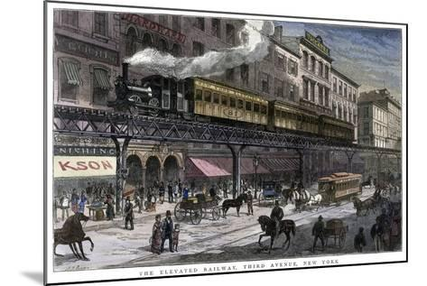 The Elevated Railway, Third Avenue, New York, 1879--Mounted Giclee Print