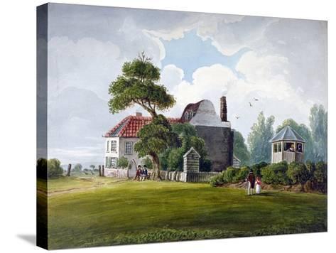 View of Copenhagen House and Gardens, Copenhagen Fields, Islington, London, 1815--Stretched Canvas Print
