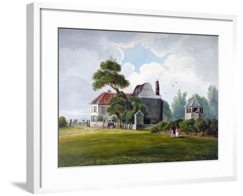 View of Copenhagen House and Gardens, Copenhagen Fields, Islington, London, 1815--Framed Art Print