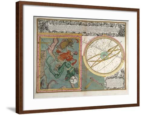 Cometa, Qui Anno Christi, 1742-Matthaeus Seutter-Framed Art Print