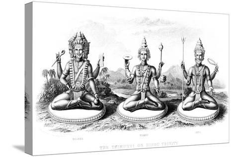 The Hindu Trinity, C1800--Stretched Canvas Print