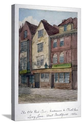 View of the Old Red Cow Inn in Long Lane, Smithfield, City of London, 1854--Stretched Canvas Print