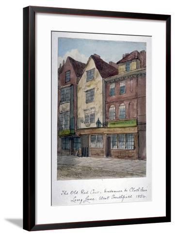 View of the Old Red Cow Inn in Long Lane, Smithfield, City of London, 1854--Framed Art Print