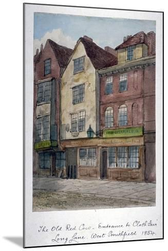 View of the Old Red Cow Inn in Long Lane, Smithfield, City of London, 1854--Mounted Giclee Print