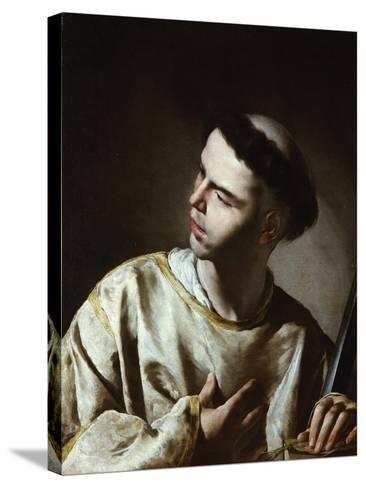 Saint Lawrence-Bernardo Cavallino-Stretched Canvas Print