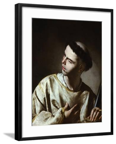 Saint Lawrence-Bernardo Cavallino-Framed Art Print