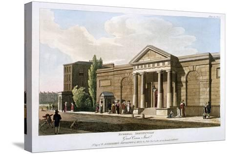 View of the Russell Institution, Great Coram Street, Bloomsbury, London, 1811--Stretched Canvas Print