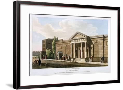 View of the Russell Institution, Great Coram Street, Bloomsbury, London, 1811--Framed Art Print