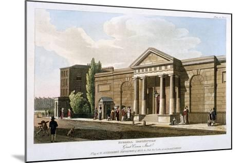 View of the Russell Institution, Great Coram Street, Bloomsbury, London, 1811--Mounted Giclee Print