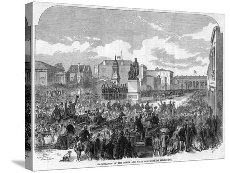Inauguration of the Burke and Wills Monument at Melbourne, Australia, 1865--Stretched Canvas Print