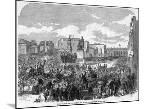 Inauguration of the Burke and Wills Monument at Melbourne, Australia, 1865--Mounted Giclee Print