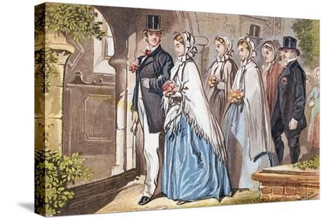 The Wedding Day, C1885--Stretched Canvas Print