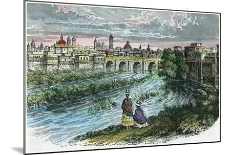View of the City of Lima, the Capital of Peru, from the River Rimac, C1875--Mounted Giclee Print