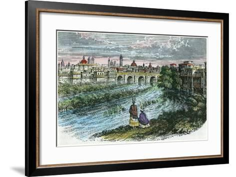 View of the City of Lima, the Capital of Peru, from the River Rimac, C1875--Framed Art Print