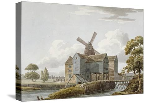 View of West Ham Mills by the River Lea, West Ham, Newham, London, C1800--Stretched Canvas Print