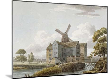View of West Ham Mills by the River Lea, West Ham, Newham, London, C1800--Mounted Giclee Print