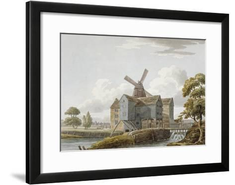 View of West Ham Mills by the River Lea, West Ham, Newham, London, C1800--Framed Art Print
