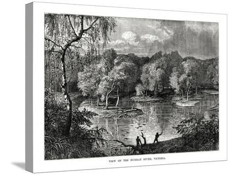 Murray River, Victoria, Australia, 1877--Stretched Canvas Print
