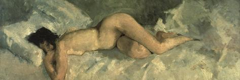 Reclining Nude, Ca 1887-George Hendrik Breitner-Stretched Canvas Print
