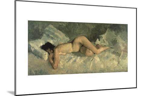 Reclining Nude, Ca 1887-George Hendrik Breitner-Mounted Giclee Print