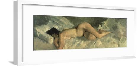 Reclining Nude, Ca 1887-George Hendrik Breitner-Framed Art Print