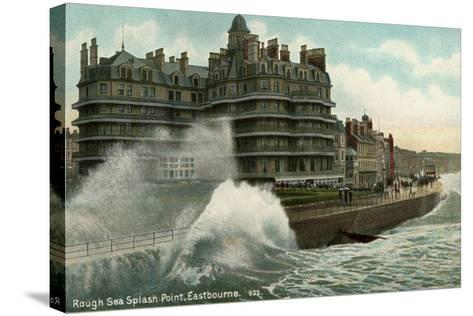 Rough Sea, Splash Point, Eastbourne, Sussex, C1912--Stretched Canvas Print