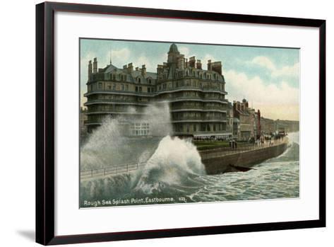 Rough Sea, Splash Point, Eastbourne, Sussex, C1912--Framed Art Print