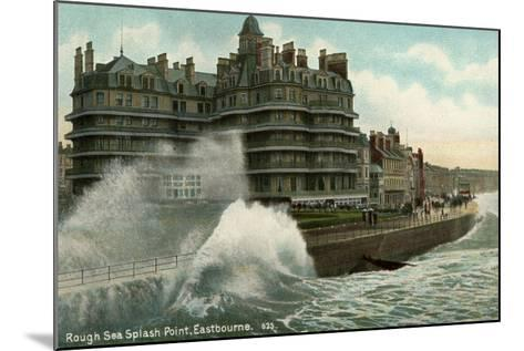 Rough Sea, Splash Point, Eastbourne, Sussex, C1912--Mounted Giclee Print