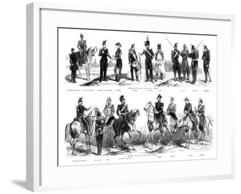 Costumes of the Swiss Federal Army, 1857--Framed Art Print