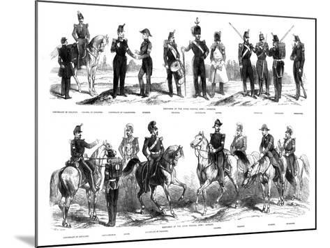 Costumes of the Swiss Federal Army, 1857--Mounted Giclee Print