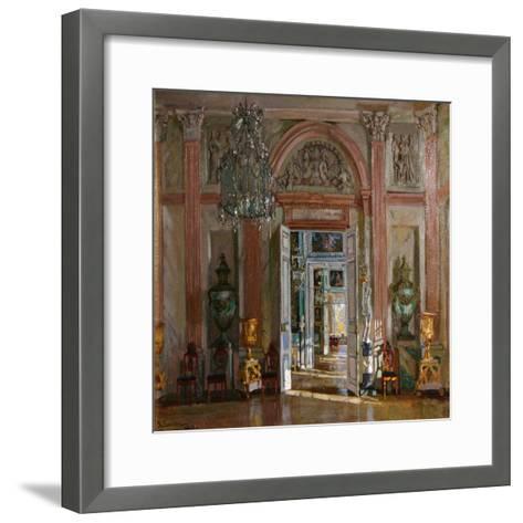 The Great Vestibule in the Kuskovo Palace, 1917-Stanislav Yulianovich Zhukovsky-Framed Art Print