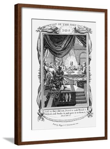 Jesus and His Disciples at the Last Supper, C1804--Framed Art Print