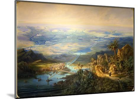 The Suez Canal, 1864-Alberto Rieger-Mounted Giclee Print